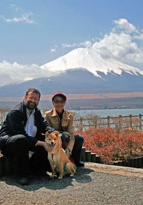 Ponta and family at Fuji
